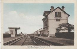 Vendée MOUCHAMPS La Gare Colorisée ...ab - France