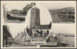 Multiview, Watchet, Somerset, C.1950s - Blackmore RP Postcard - England