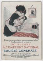 CALENDRIER 1917 Militaria WWI Affiche Georges Redon Alsacienne Emprunt National Société Générale - Calendars