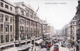 AR94 Regent Street, London - Valentine Valesque Postcard, Buses - London