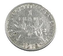 1 Franc Semeuse   - France  -1910 - TB+  - Argent - - H. 1 Franc