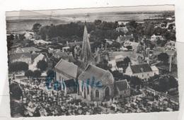 50 MANCHE - CP EN AVION AU DESSUS DE BLAINVILLE ( SUR MER )- L'EGLISE ET LE CIMETIERE - EDITION LAPIE N° 1 - 1960 - Blainville Sur Mer
