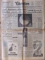 Libération 8 Oct 1959 - Lunik III - Général Jouhaud - Agent Dubois - Bugatti - 1950 à Nos Jours