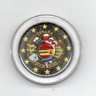 Spagna - 2012 - Moneta Da 2 Euro - Decennale Euro - Colorato - In Capsula - (MW1647) - Spagna