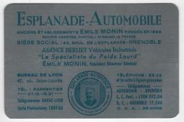 CALENDRIER 1954 Métal Esplanade Automobile Emile Monin Agence BERLIET - Calendriers