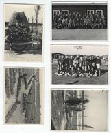 MILITAIRES - Prisonniers Français à OFFLAG IVD - 5 Photos 10.3 X 7.3 Cm - Régiments