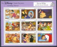 Msl140b WALT DISNEY SNEEUWWITJE SNOW WHITE VOGELS HERT KONIJN BIRDS DEER RABBIT GRENADA 1987 PF/MNH # - Disney