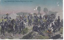 Das Offizierskorps - Husaren Regiment 15 - 1866 - AK -11.486 - Regimientos
