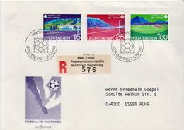 Postal History Cover: Liechtenstein Used FDC - Fußball-Weltmeisterschaft