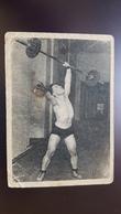 SOVIET SPORT. Weightlifter Shishkov. OLD Postcard 1930s - USSR WEIGHTLIFTING - Haltérophilie