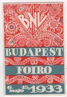 CALENDRIER 1933 BNL Budapest Foiro Hongrie - Calendars