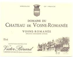 Etiket Etiquette - Vin - Wijn - Chateau Vosne Romanée - Victor Bérard - Ohne Zuordnung