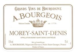 Etiket Etiquette - Vin - Wijn - Bourgogne - A. Bourgeois - Morey Saint Denis - Bourgogne