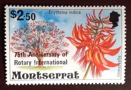 Montserrat 1980 Rotary Flowers Trees MNH - Montserrat