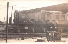"""ETAT-UNIS  -  Cliché De La Locomotive N° 1234 """" New York Central """" En Gare  -  Voir Description - Transports"""