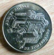 ABBAYE ROYALE DE FONTEVRAUD NON DATE = SANS DOUTE 1998 MONNAIE DE PARIS  JETON TOURISTIQUE - Monnaie De Paris