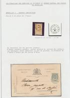Page De Collection : Bruxelles 4 - Service Contentieux (étoile à La Place De L'heure). Obl Sur Timbre Détaché Et Sur CP - 1905 Thick Beard