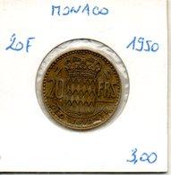 Monaco. Rainier III. 20 Francs 1950 - 1949-1956 Francos Antiguos