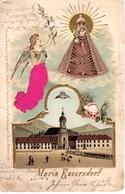 MARIA ENZERSDORF, Seltene Reliefkarte, Madonna, Engel Mit Zweig, Wallfahrtskirche   Lithokarte, 17.9.1900 - Maria Enzersdorf