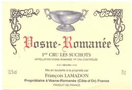 Etiket Etiquette - Vin - Wijn - Vosne Romanée - 1er Cru Les Suchots - Bourgogne