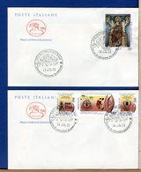 ITALIA - FDC CAVALLINO 2001 -  SANCTA SANCTORUM - ONU FAME NEL MONDO - 6. 1946-.. Repubblica