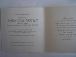 Doodsprentje Jefke Van Noten Berlaar 1955 Lier Ziekenhuis 2004 Beuselinck - Images Religieuses