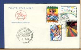 ITALIA - FDC CAVALLINO 2001 -  ARTE CREATIVITA' - 6. 1946-.. Repubblica