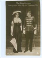 Y10573/ Erzherzog Karl Franz Josef  + Erzherzogin Zita  Foto AK 1914 - Royal Families