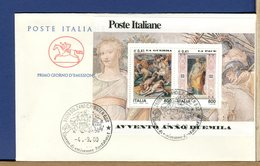ITALIA - FDC CAVALLINO 2000 -  FOGLIETTO AVVENTO ANNO DUEMILA - GUERRA  -  PACE - 6. 1946-.. Repubblica