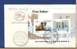 ITALIA - FDC CAVALLINO 2000 -  FOGLIETTO AVVENTO ANNO DUEMILA - LA NATURA - LA CITTA' - 6. 1946-.. Repubblica