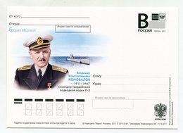 """2011 RUSSIA POSTCARD """"B"""" COMMANDER OF THE SUBMARINE L-3 V.KONOVALOV - Sous-marins"""