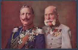 Portrait Kaiser Wilhelm II U. Franz Josef I - Guerre 1914-18