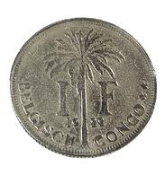 1 Franc - Belgique-Congo - 1922 - Tb - - Congo (Belge) & Ruanda-Urundi