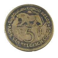 5 Francs - Belgique-Congo - 1937 - Tb - - 1934-1945: Leopold III