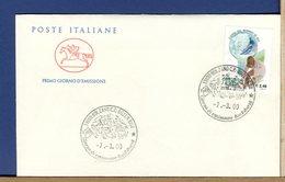 ITALIA - FDC CAVALLINO 2000 -  COPPA DEL MONDO DI SCI - 6. 1946-.. Repubblica