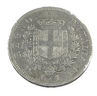 1 Lire - Italie - Argent - 1863 - TB - - 1861-1946 : Kingdom