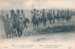1914 - SUR LE FRONT - LES INDIENS DANS LE NORD DE LA FRANCE - War 1914-18