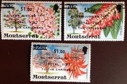Montserrat 1977 Flowers Royal Visit MNH - Montserrat