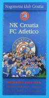 NK CROATIA (Dinamo Zagreb) V ATLETICO Madrid - 1997 UEFA CUP Football Match Flyer (programme) Soccer Futbol Spain Espana - Match Tickets