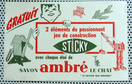 Buvard Savon Ambré LE CHAT - Le Savon Qui Mousse Jeu De Construction STICKY - Parfums & Beauté