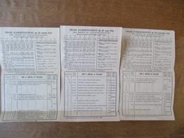 LA RESERVE NATIONALE BONS DE CAPITALISATION TIRAGES D'AMORTISSEMENT DES 20 JUILLET,20 AOUT,20 SEPTEMBRE 1945 - France