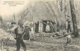 Bretagne Métiers 165 Collection E.H. Hutte De Sabotiers En Forêt Cabane Famille Enfant Tarière Non Circulée Précurseur - Bretagne