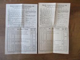 LA RESERVE NATIONALE BONS DE CAPITALISATION TIRAGES D'AMORTISSEMENT DES 20 JUILLET 1944 ,20 JANVIER ,20 FEVRIER  1945 - France