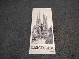 ANTIQUE TOURISM BROCHURE SPAIN -BARCELONA  W/ INFORMATION AND PICS - Dépliants Touristiques