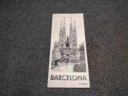 ANTIQUE TOURISM BROCHURE SPAIN -BARCELONA  W/ INFORMATION AND PICS - Folletos Turísticos