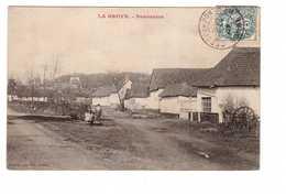 80 La Broye Panorama Cpa Carte Animée Animation Cachet 1907 - France