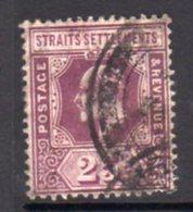 Malaya Straits Settlements 1906-12 25c Dull & Bright Purple, Wmk. Multiple  Crown CA, Used, SG 161 - Straits Settlements