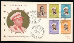 FDC  N° 10  1961 - Republiek Congo (1960-64)