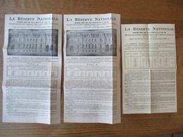 LA RESERVE NATIONALE BONS DE CAPITALISATION TIRAGES D'AMORTISSEMENT DES 20 JANVIER  ET 19 FEVRIER 1944 - France