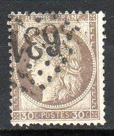 FRANCE - 1872 - Emission Dutype Cérès , IIIème République - N° 56a - 30 C. Brun Foncé - 1871-1875 Ceres